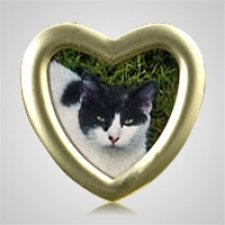 Heart Gold Pet Picture Frame