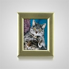 Small Rectangle Gold Pet Picture Frame