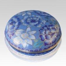 Azure Blue Cloisonne Jewel Dish