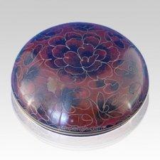 Crimson Cloisonne Jewel Dish