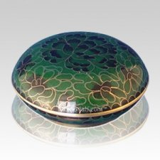 Emerald Green Cloisonne Jewel Dish