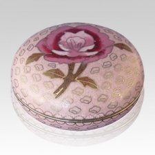 Blissful Rose Cloisonne Jewel Dish