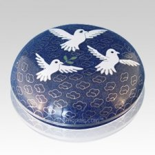 Peace Doves Cloisonne Jewel Dish