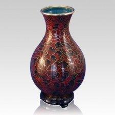 Crimson Cloisonne Vase