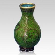 Emerald Green Cloisonne Vase