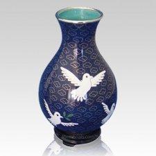 Peace Doves Cloisonne Vase
