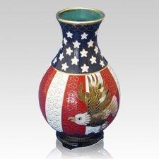 Patriot Cloisonne Vase