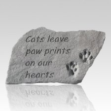 Cats Leave Pawprints Stone