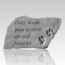 Cats Leave Pawprints Grave Stone