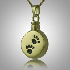 Black Pet Paw Signet Cremation Keepsake II