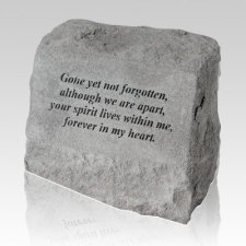 Gone Yet Not Pet Cremation Headstone