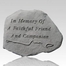 Faithful Leash & Collar Dog Memorial Stone
