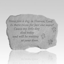 Dog In Heaven Memory Stone