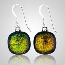 Rusty Green Memorial Earrings