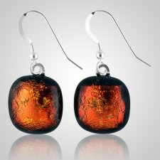 Red Embrace Ash Earrings