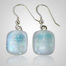 Clear Blue Memorial Earrings