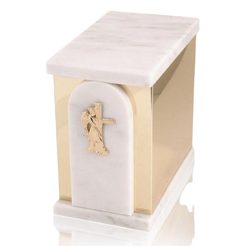 Trinity White Danby Marble Urn