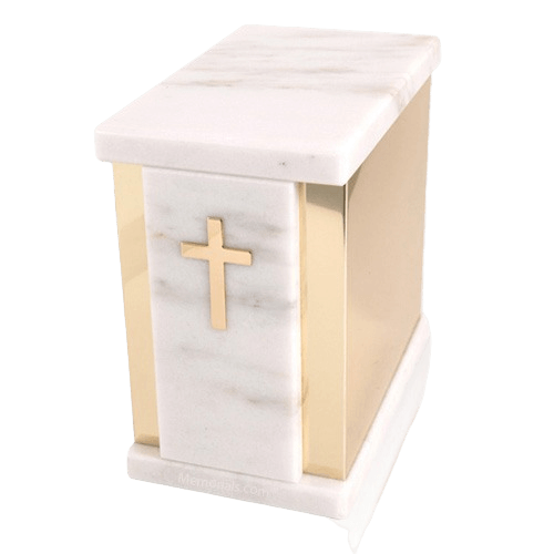 Ethinity White Danby Marble Cremation Urns
