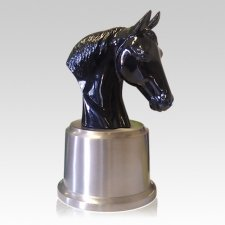 Arion Black Horse Cremation Urn
