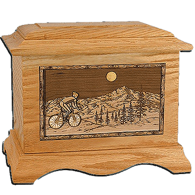 Aviation Oak Cremation Urn for Two