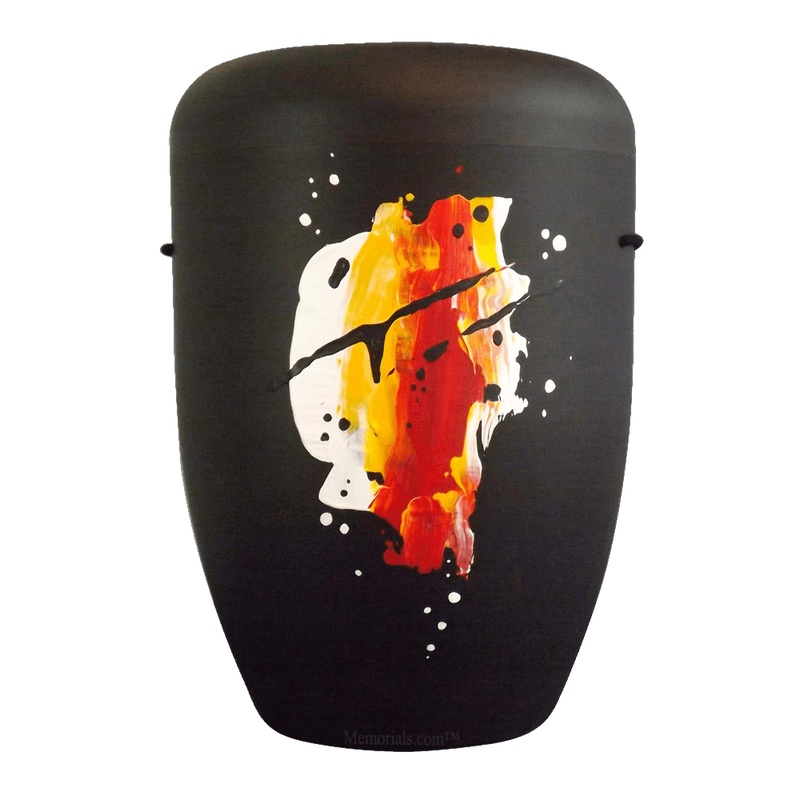 Abstract Colors Biodegradable Urn