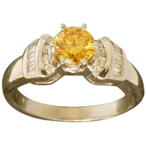 Ring with Accent Diamonds