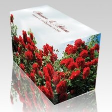 Rose Ocean Wood Cremation Urn