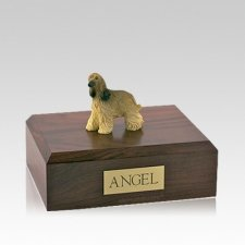 Afghan Hound Long Hair Medium Dog Urn