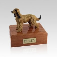 Afghan Hound Medium Dog Urn