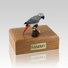 African Gray Parrot Large Bird Cremation Urn