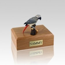 African Gray Parrot Medium Bird Cremation Urn
