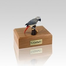 African Gray Parrot Small Bird Cremation Urn