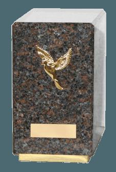 Agra Dakota Mahogany Cremation Urn