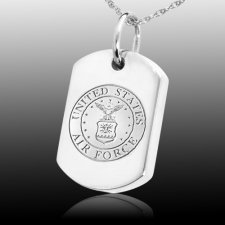Air Force Dog Tag Cremation Pendant III