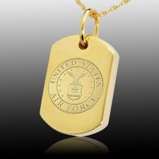 Air Force Dog Tag Cremation Pendant IV