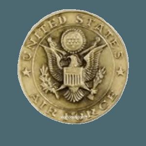 Air Force Seal Medallion Appliques