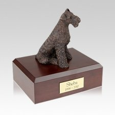 Airedale Bronze Large Dog Urn