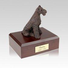 Airedale Bronze Medium Dog Urn