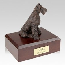 Airedale Bronze X Large Dog Urn