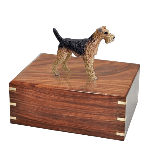 Airedale Large Doggy Urn