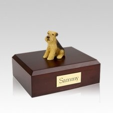 Airedale Medium Dog Urn