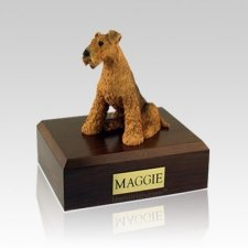 Airedale Terrier Large Dog Urn