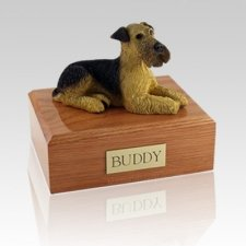 Airedale Terrier Laying X Large Dog Urn