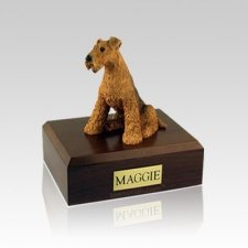 Airedale Terrier Medium Dog Urn