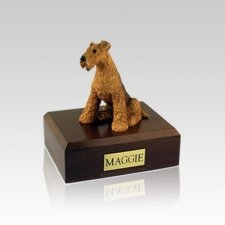 Airedale Terrier Small Dog Urn