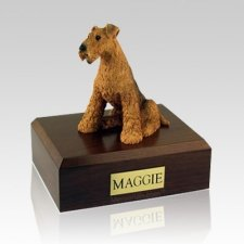Airedale Terrier X Large Dog Urn