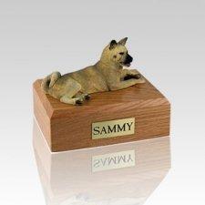 Akita Fawn Laying Medium Dog Urn