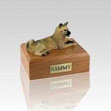 Akita Fawn Laying Small Dog Urn