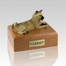 Akita Fawn Laying X Large Dog Urns