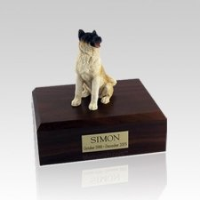 Akita Japanese Sitting Medium Dog Urn